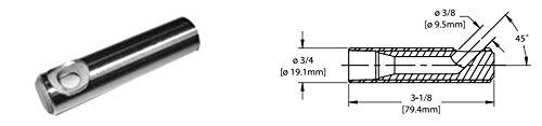Kennametal 1914460 3/8'' Bore Dia Tungsten Carbide 45 Deg angle nozzle