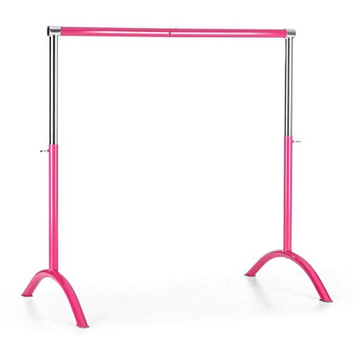 allet Bar • Free Standing • 43 x 44 inches • Suitable for Numerous Stretch and Movement Exercises • Anti-Slip • Steel • Pink ()