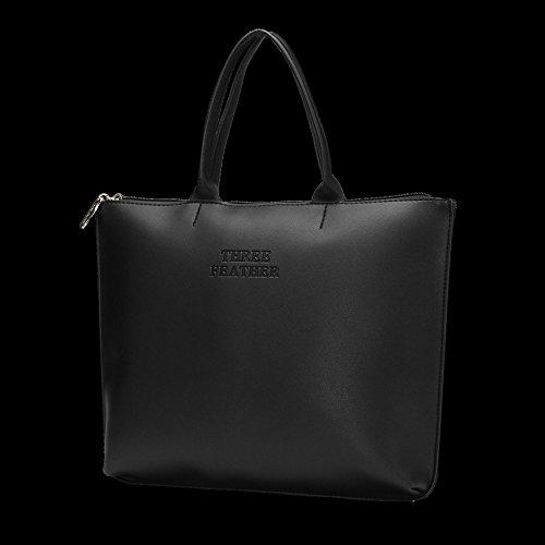 femme Saint cuir à de pour noir comme fashion Valentin cadeau idéal Grand sac bandoulière Nuvola en WHBpqAp