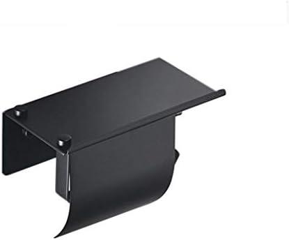 GONDD ベゼル付きバスルームティッシュボックスの洗面所のステンレス鋼トイレットペーパーホルダー、ブラック、パンチフリー、サイズ:180 x 90 x 70 mm