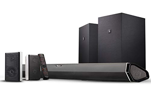 Nakamichi Shockwafe Elite 7.2Ch DTS:X 800W 45-Inch Sound Bar System with Dual 8