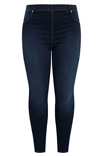 Yours Clothing Womens Jenny Jeggings Indigo Stretchy Regular Fit Plus Size Size 24 Indigo Blue