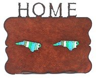 Whimsies North Carolina Rust Frame with Two North Carolina Magnets in Multi Stripes