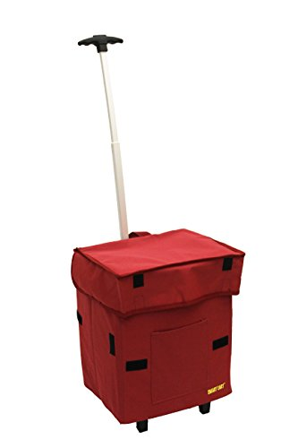 Smart Cart, RED Rolling Multipurpose Collapsible Basket Cart Scrapbooking by dbest products