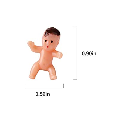 36pcs mini plastic Babies for baby shower, ice cube game, party decorations, baby toys(Latin color): Juguetes y juegos