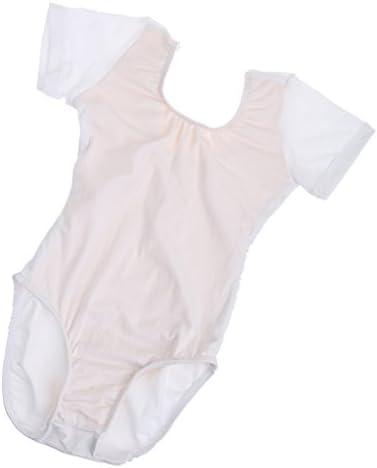 子供 女の子 バレエ 体操 ダンス 短袖 レオタード 衣装 タイツ 全3色5サイズ