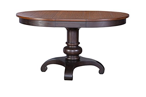 Furniture At Home American Heritage Collection Pedestal Table, Chocolate Oak ()