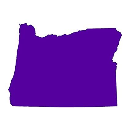 Purple State Map.Amazon Com Oregon State Map Vinyl Decal Sticker 16 25 X 12