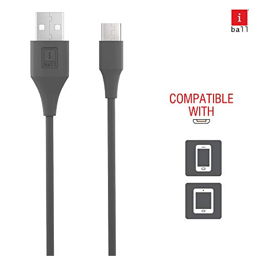 iBall IB-Type-C 1.2M USB Charge & Data Sync 1.2 Meter Long Fast Charging Cable (Lava Grey)