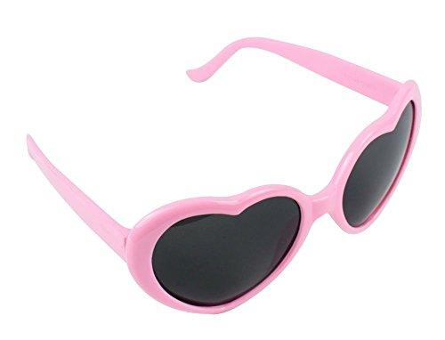 Coco&de Lolita Metal Heart Shaped Frame Cupid Sunglasses (Pink, - Glasses Pink Heart