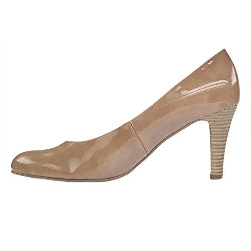 Gabor 65.210.74 - Zapatos de vestir de charol para mujer Beige