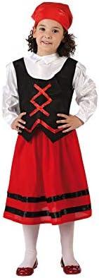 Atosa-32145 Disfraz Pastora Niña Infantil-T, Color Rojo, 7 a 9 años (32145)