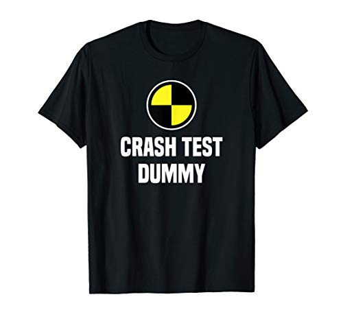 Funny Crash Test Dummy Easy Last Minute Halloween Costume T-Shirt