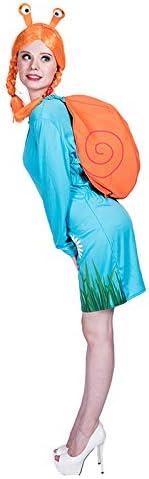 Mantello thematys Carino Lumaca 4 Pezzi Costume Set per Signore Cerchietto Parrucca e Abito Perfetto per Halloween Carnevale e Cosplay Taglia Unica 160-175cm