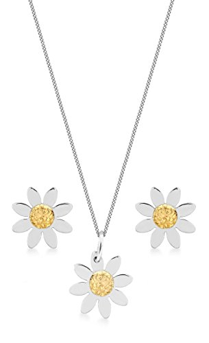 Carissima Gold - Parure collier et boucles d'oreilles - 375/1000 - Or bi colore - Femme - 46 centimeters
