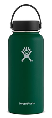 Hydro Flask 18 oz Double Wall Vacuum Insulated Stainless Steel Leak Proof Sports Water Bottle, Wide Mouth with BPA Free Flex Cap, Sage
