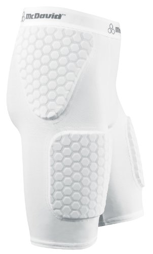 - McDavid Hexpad Thudd Short With Hexpad Thigh pads,White,Medium