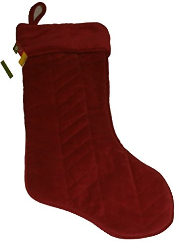 Deluxe Red Quilted Christmas Stocking (Plush Angel Stocking)