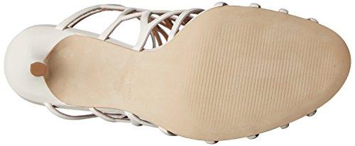 Steve Madden Womens Slithur Dress Sandalo In Pelle Bianca