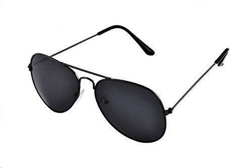 SHVAS UV Protection Unisex Aviator Black Sunglasses [DUBORNBLACK]