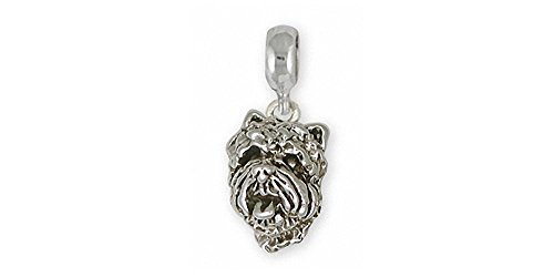 (Westie Charm Slide Jewelry Sterling Silver Handmade West Highland White Terrier Charm Slide CH28-PNS)