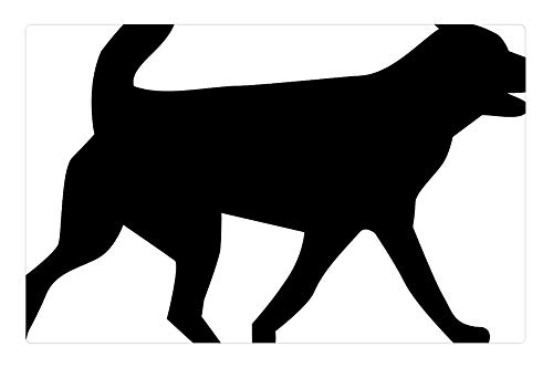 (Tree26 Indoor Floor Rug/Mat (23.6 x 15.7 Inch) - Dog Hound Animal Pet Silhouette )