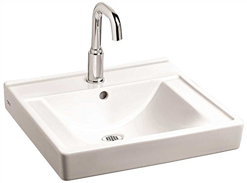 (American Standard 9024004EC.020 Decorum Wall-Hung Bathroom Sink with Ever Clean and 4