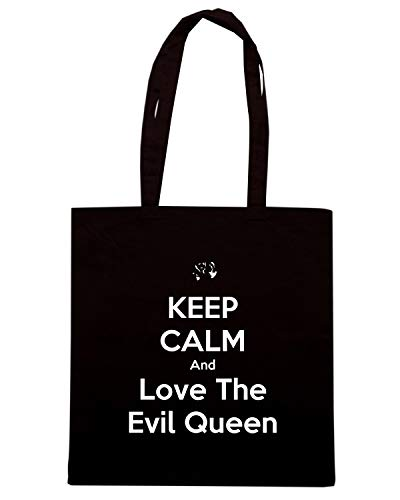 QUEEN Nera AND KEEP TKC2506 Shopper EVIL THE CALM Borsa LOVE Txqn17w6