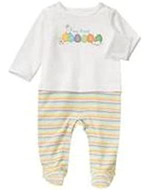 Unisex Baby My First Easter Baby Romper Footie for Boys and Girls,