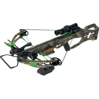 Precision Shooting Equip 18 Fang LT Crossbow Mossy Oak Country Camo Package