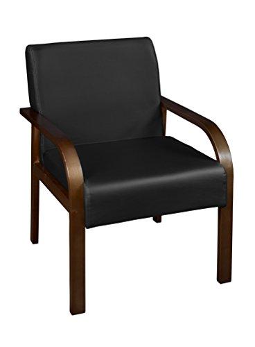Niche Mia Bentwood Lounge Side Chair- Mocha Walnut/Black Vinyl
