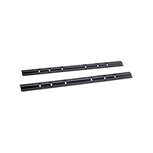 - 58058 Black Powder Coat 38 lbs. Fifth Wheel Mounting Rails with 10-Bolt Design