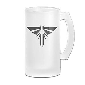 The Last Of Us Logo Grind Beer Glass Mug White