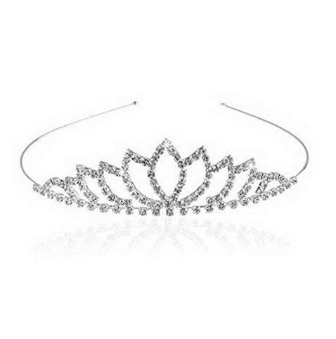 Kaputar Tiara Bridal Rhinone Decor Hairband Hair Clip Hair Loop Tiara | Model WDDNG -306 ()