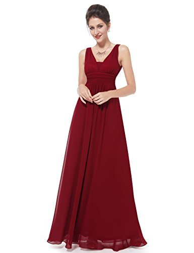 Ever-Pretty Womens Elegant Ruffles Wedding Guest Dresses 4US Red by Ever-Pretty (Image #3)