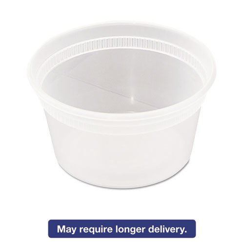 Deli Container With Lid - Clear, Combo Pack, Microwaveable, 12 Ounce -- 240 Per Case. by Newspring