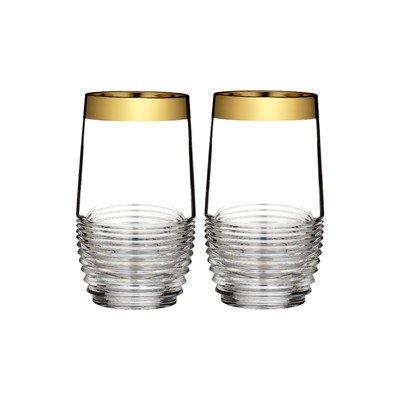 Mixology Mad Men Edition Circon HighBall Glass (Set of 2) Finish: Gold