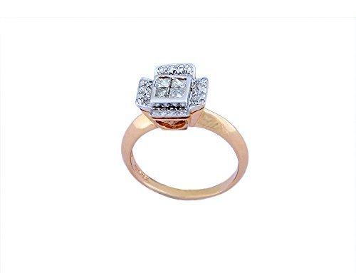 Elegant, lovely Ring Set In diamond( 0.43 Cts Color I-J Clarity I )18KT( 4.85Gms)
