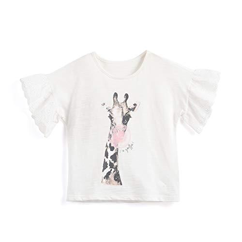Toddler Giraffe S/S T-Shirt White