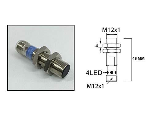 RADWELL VERIFIED SUBSTITUTE BI4-M12-AP6X-H1141-SUB Proximity Sensor, Extended Range, Cylindrical, Shielded, 12MM Threaded, 4MM Range, PNP, N/O Output, 4-PIN, M12 QD