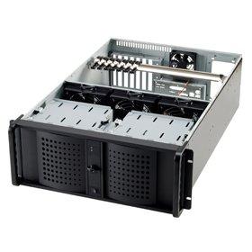 Rack, Server, Aluminium, EATX, Black, 4U Fantec TCG-4880X07-1 Carcasa de Ordenador Rack Black Caja de Ordenador