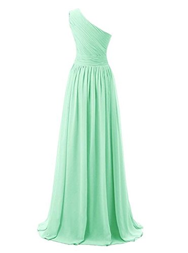 Wedding AK Sleeveless Prom Bridesmaid Navy Blush Long Dresses Shoulder Beauty One Chiffon rnATWrp