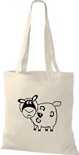 Tissu Naturel Animaux Mouton Shirtstown Pochette En 1gFPZ