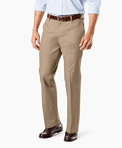 Dockers Men's Straight Fit Signature Khaki Pant D2, Timber Wolf - Creased, 36W x 30L from Dockers