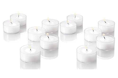 White Unscented Light Candles tealights product image