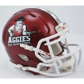 New Mexico State Aggies Riddell Speed Mini Replica Football Helmet (Replica Riddell Mini State)