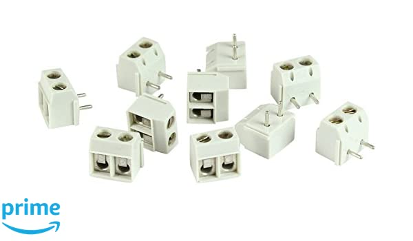 300V 14 Amp Gray Foil Protection UL Vertical Wire Entry Interlocking 5 mm Pitch Pack of 50 ASI CZM5-2SQ-50 2 Pin Terminal Block Connector