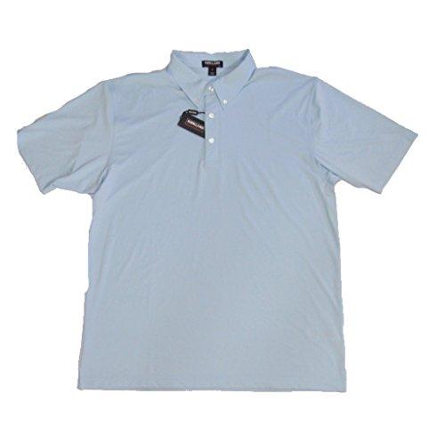 Kirkland Men's Performance Moisture Wicking Polo - 4 Colors & Sizes (X-Large, Light Blue)