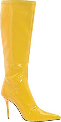 Scarpe Ellie Da Donna Con Gambaletto Alto 4 Pollici Con Cerniera (giallo; 12)