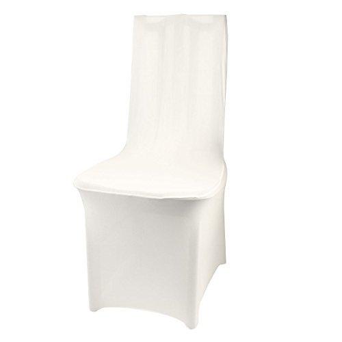 eDealMax Hôtel Salle à Manger Cérémonie de Mariage Party Decor Stretchy Chaise couvrons Blanc